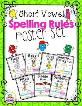 Spelling Rules Poster Set Bundle