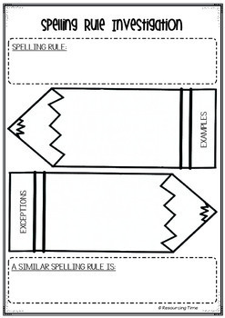 Spelling Rules Posters Plus Investigation Worksheets
