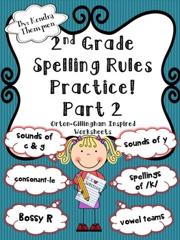 2nd Grade Spelling Rules Practice Part 2: Orton-Gillingham