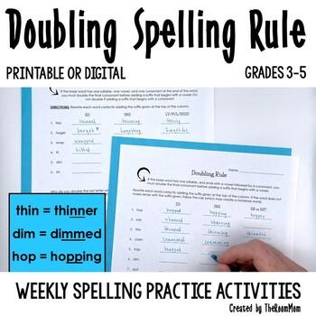 Spelling Rules-- Doubling Rule