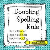 Spelling Rules-- Doubling Rule with distance learning option