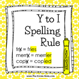 Spelling Rules-- Y to I