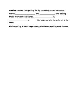 Spelling SCAMPER