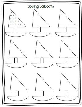 Spelling Sailboats