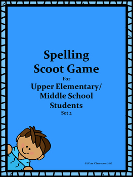 Spelling Scoot Game for Upper Elementary & Middle School Students