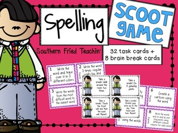 Spelling Scoot Game/Task Cards