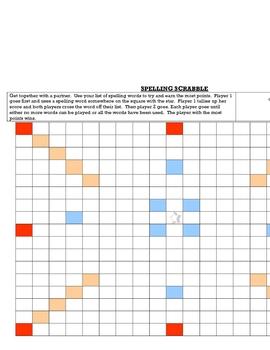 Spelling Scrabble Game