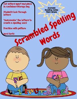 Spelling Scramble Journeys Third Grade