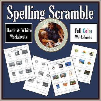 Spelling Scramble Worksheets