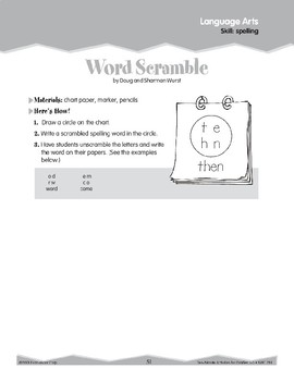 Spelling: Scramble and Scrabble (Ten-Minute Activities)