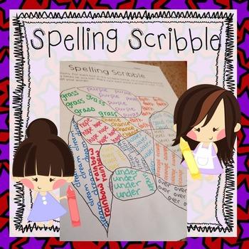 FREEBIE Spelling Scribble