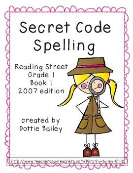 Spelling Secret Code for Reading Street Grade 1 Book 1