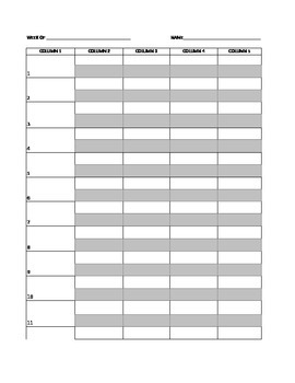 Spelling Self Correction Sheet