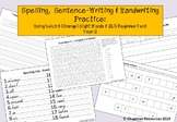 Spelling, Sentence Writing & Handwriting Practice (Year 2 - Dolch 4, Orange)