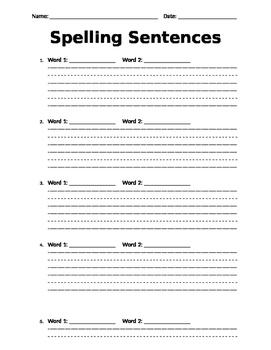 Spelling Sentences