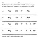 Spelling Sentences Worksheet