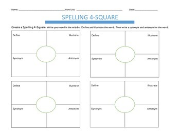 Spelling Sentences and Word Work