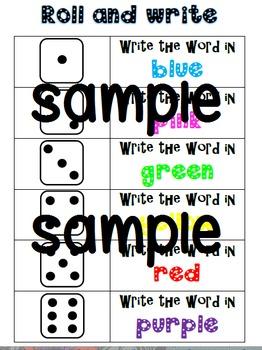 Spelling Sheet practice 2