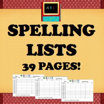 Spelling Lists- 370 words for students to learn