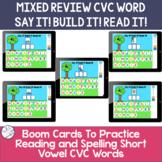Spelling Short Vowel CVC words | BOOM Cards ™