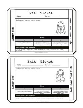 Spelling Short Vowel Words Exit Tickets