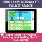 Spelling Short a CVC words | BOOM Cards ™
