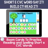 Spelling Short e CVC words | BOOM Cards ™