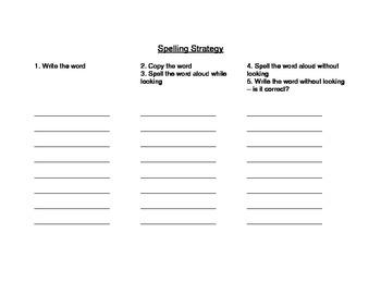 Spelling Sight Words Strategy - Elementary School Grades
