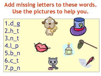 Spelling Simple Words