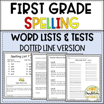 Spelling Skill Word Lists with SIPPS - Dotted Line Version