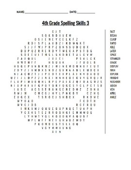 Spelling Skills Word Searches (3)