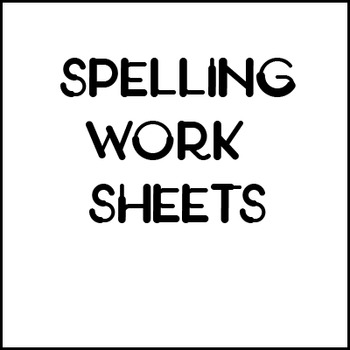 Spelling Skills Worksheets Test Product 1