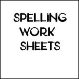Spelling Skills Worksheets Test Product 1