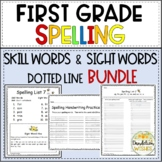 First Grade Spelling Skills with SIPPS Expanded Set - Dotted Line Version