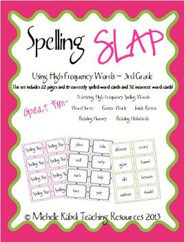 Spelling Slap - 3rd and 4th Grade Combo Game Pack -High Frequency Words