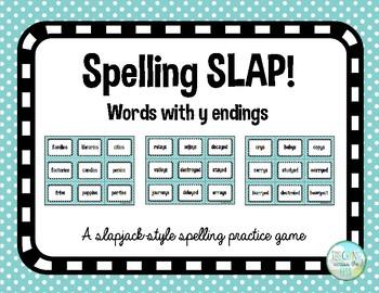 Spelling Slap game - y endings pattern