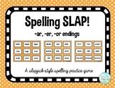 Spelling Slap game - ar/er/or endings pattern