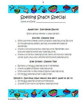 Spelling Snack Special Set