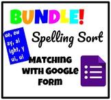 Spelling Sort Google Form Bundle