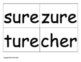 Spelling Sort with Blanks for -sure and -ture words