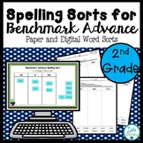 2nd Grade Spelling Sorts for Benchmark Advance Printable and Digital