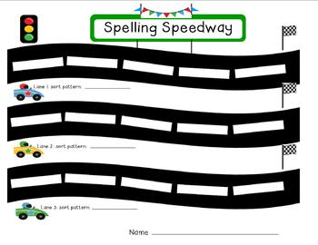 Spelling Speedway!  A Word Work Game