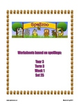 Spelling Spellzoo Year 3 Set 25 Worksheets