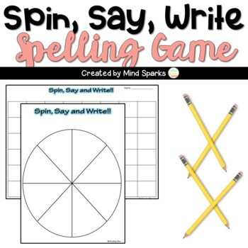 Spelling Spin, Say and Write (Freebie spelling game)