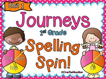 Spelling Spin Word Work ~ Journeys 1st Grade-Unit 1