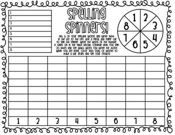 Spelling Spinners {FREEBIE!}