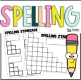 Spelling Staircase - Practice for Sight Words, Names, CVC,