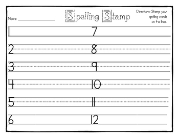 Spelling Stamp