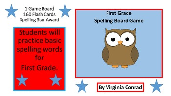 Spelling Star Game Board for First Grade