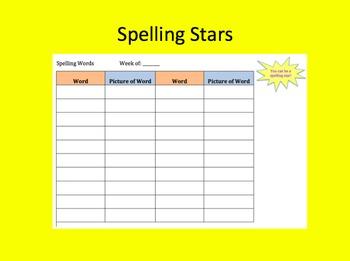 Spelling Stars Board Game